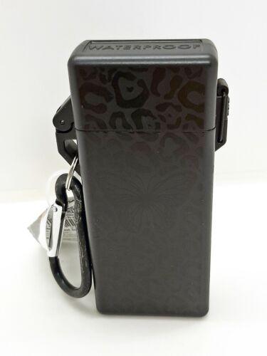 Smokezilla Black Butterfly Waterproof Survival Magnetic Close Lighter Case