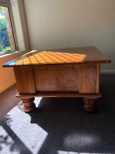 Lovely small solid wood coffee table