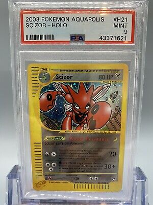 ✂️ Scizor Holo - Pokemon Aquapolis Set - PSA 9 - MINT🌱