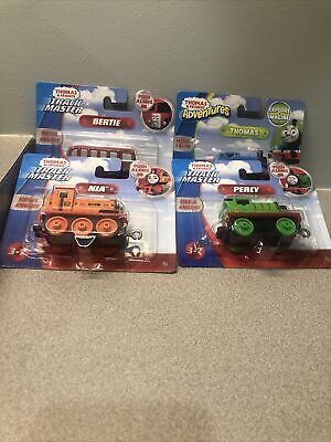 THOMAS & FRIENDS TRACKMASTER PUSH ALONG Bertie Percy Nia Thomas Push Lot Of 4
