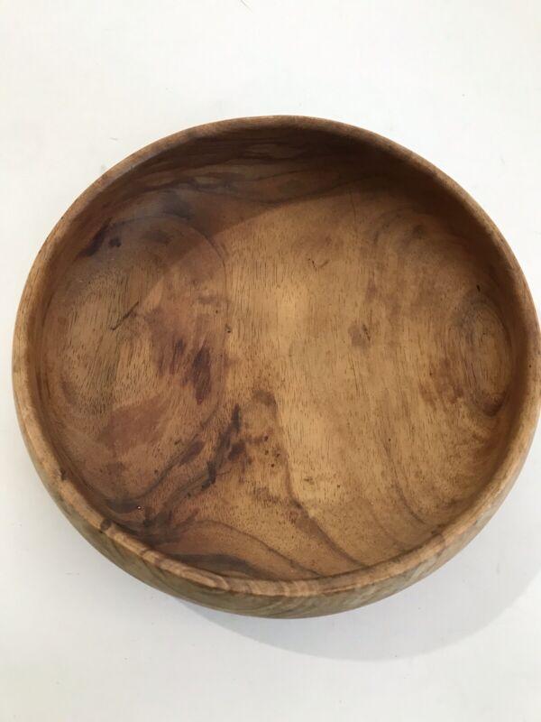 Vintage Hawaiian Wood Bowl Signed Kamaaina