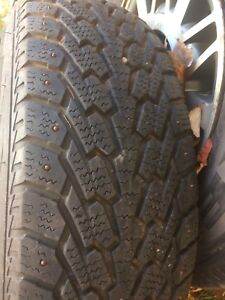 4 studded snow tires for sale