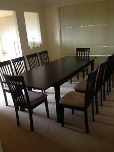 Timber Dining tabe and 10 Chairs Mount Colah Hornsby Area Preview
