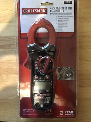 Craftsman 400 Amp Acdc True Rms Clamp Multimeter