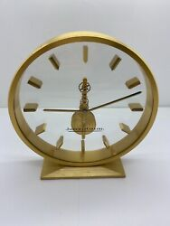 Jaeger-LeCoultre Skeleton Table Clock W/ 8 day Inline Movement - Running Great