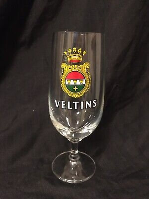 """Vintage Veltins German Beer Stemmed Glass 6.25"""" .2L Tall ZZ"""