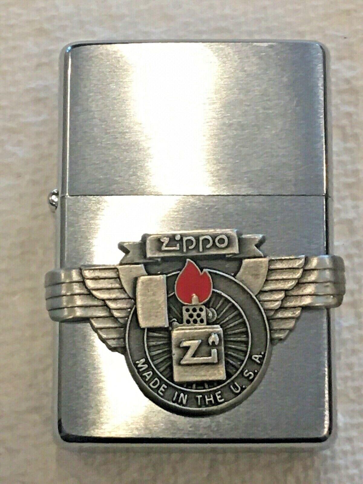 Zippo Lighter 582 Made USA Pewter New 1998
