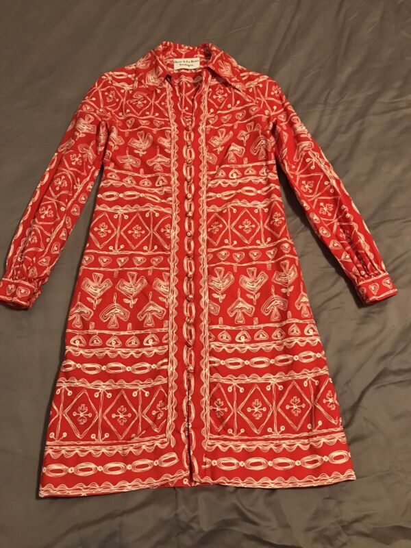 Vintage Oscar de La Renta Red Dress