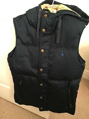 Jack Wills Men's Navy Down Gilet Size: XS for sale  Shipping to Ireland
