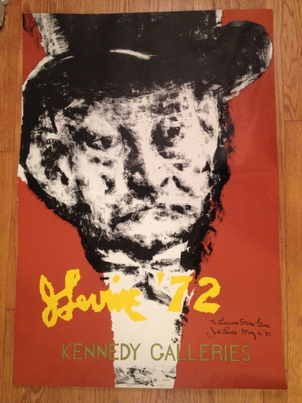 Jack Levine Kennedy Galleries Poster Kennedy Galleries Poster Self Portrait Wow!