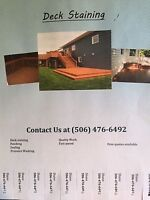 Outdoor Staining and Sealing Available TODAY!!