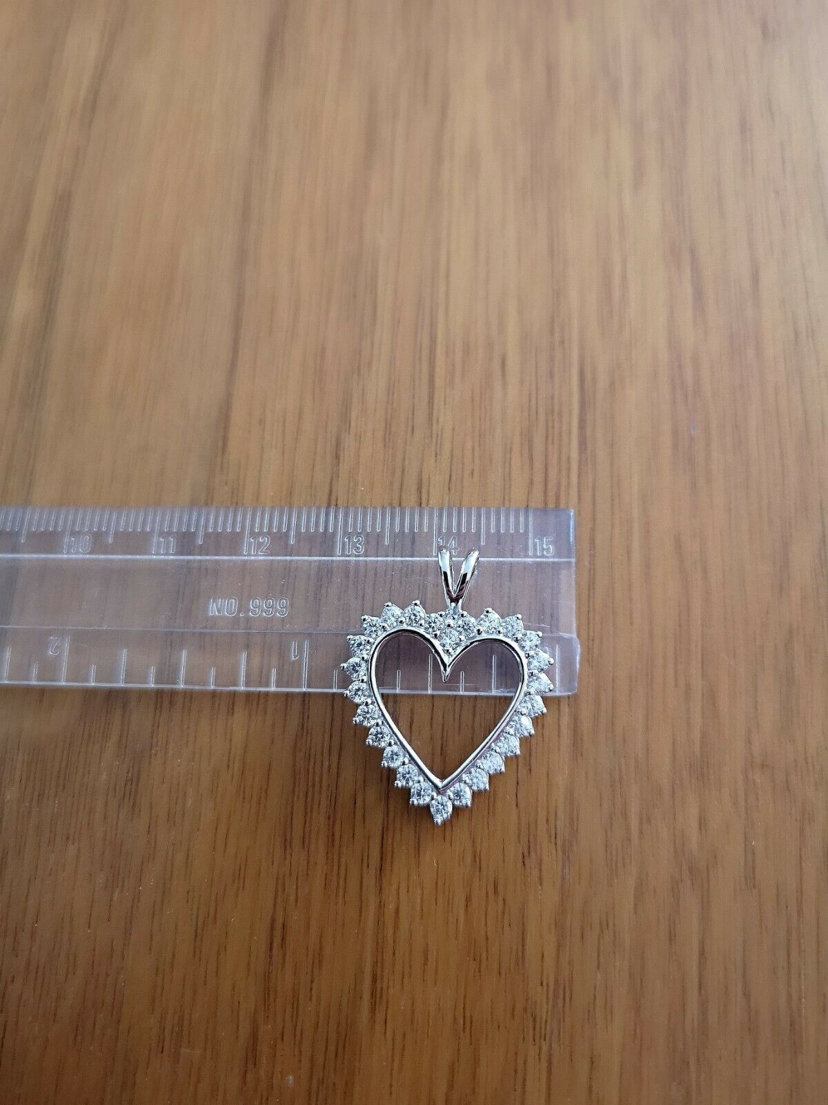 1.25 Ct Diamond Heart Pendant Womens Necklace 14K White Gold over with Chain 4