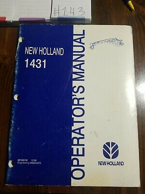 New Holland 1431 Discbine Mower Conditioner Operation Maintenance Manual Book