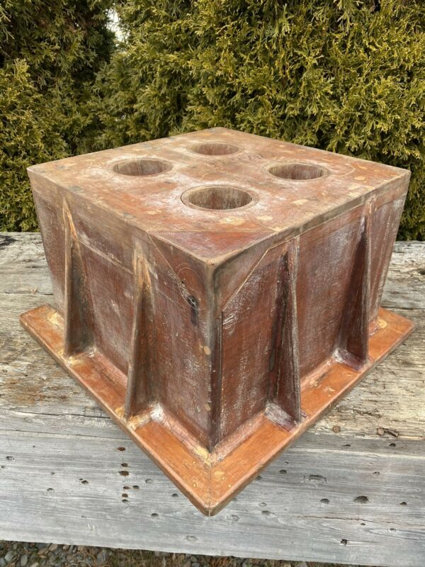 Vintage Wood Foundry Form, Unusual What is it Piece? Repurpose!