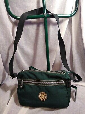 KIPLING GREEN NYLON SHOULDER BAG CROSSBODY IN GOOD CONDITION