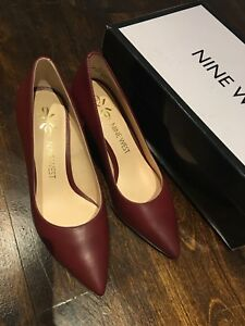 Nine west soho leather heels size 5