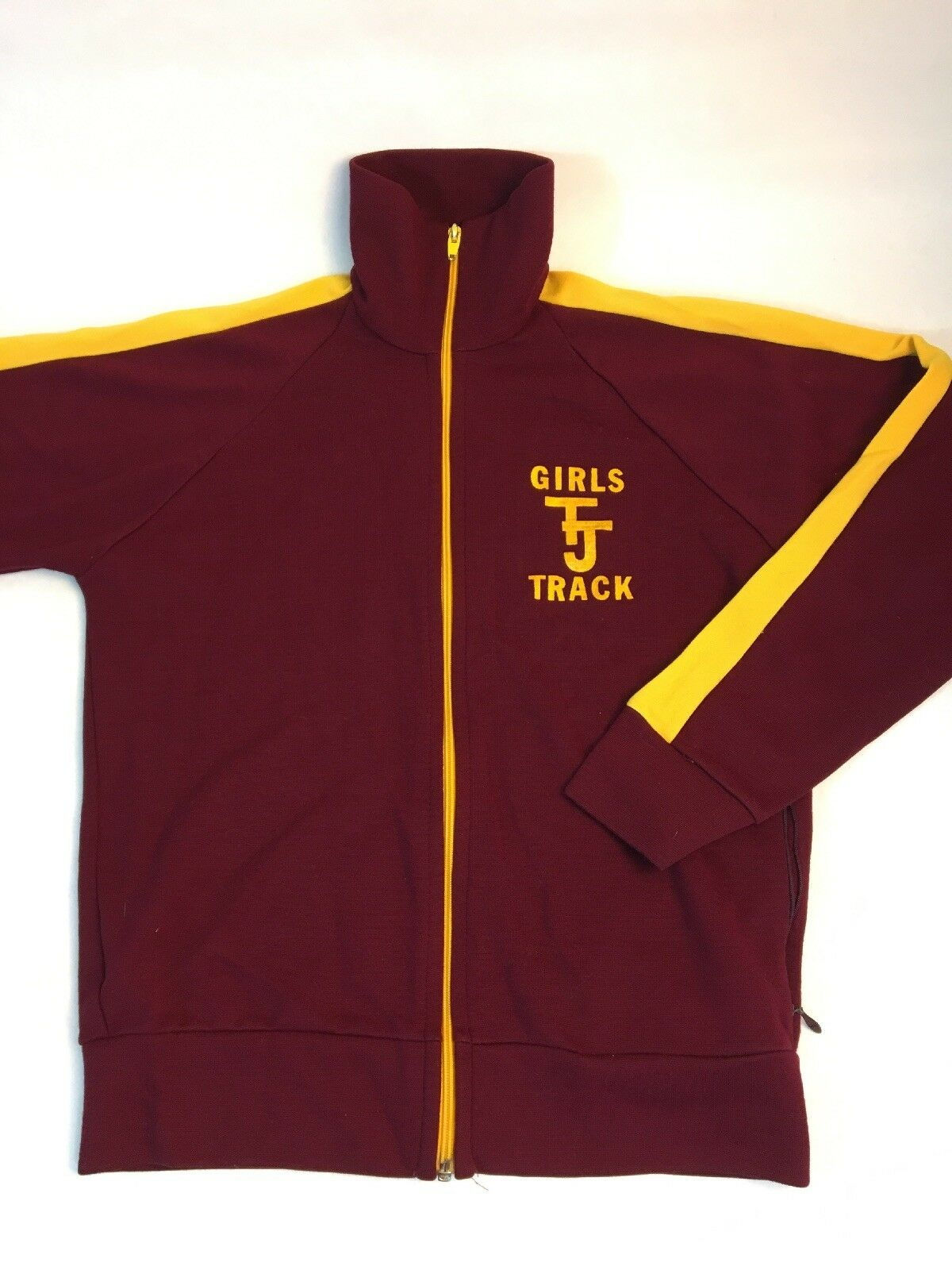 Купить Sport casuals - VTG Thomas Jefferson High School Girls Track Jacket Women's S Zip Sport Casuals