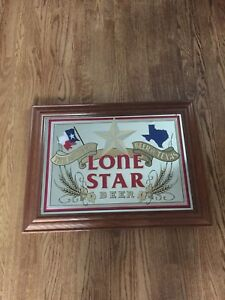 Vintage Lone Star Beer Advertisement Man Cave Decor