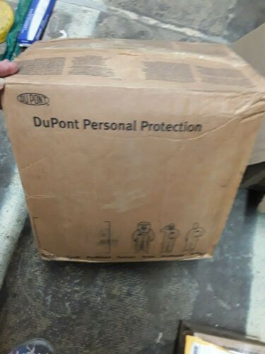 DUPONT Tychem CPF 2 Coverall Sz LARGE L - CASE OF 12 - hood & boots attached