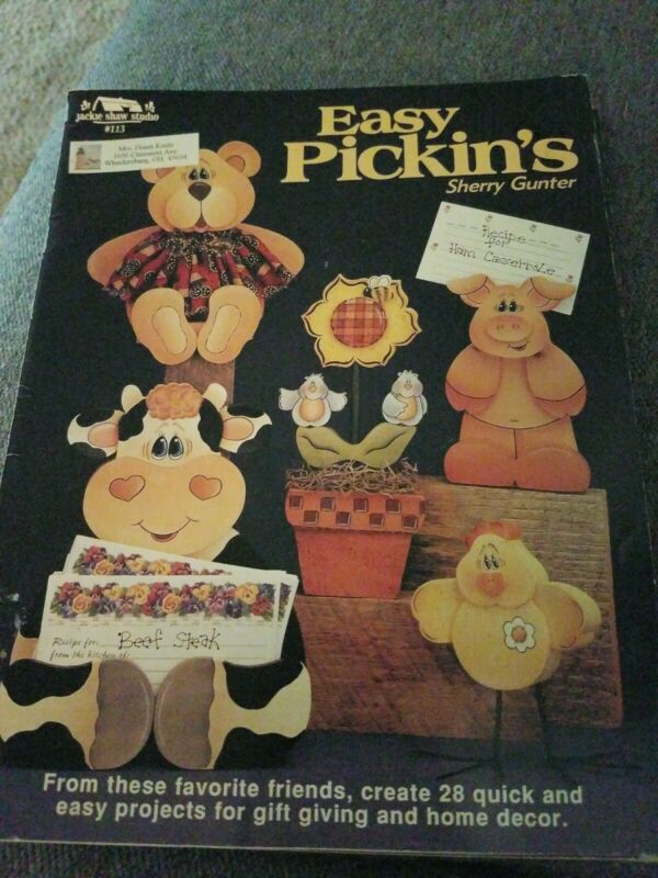 DECORATIVE TOLE PAINTING PATTERN BOOK EASY PICKIN