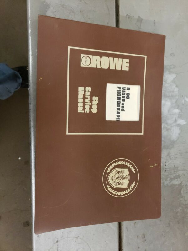 Rowe R-90 Video and Phonograph Shop Service Manual