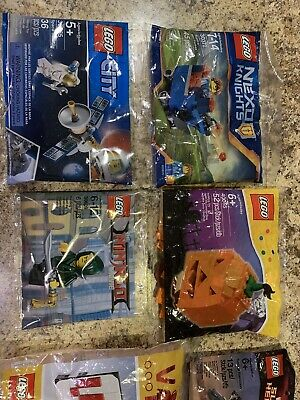 Lego Variety Packs 40178, 40055, 30609, 30365, and 30372