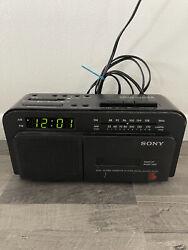 Sony Dream Machine ICF-C600 AM/FM Radio Cassette Tape Player Alarm Clock Tested