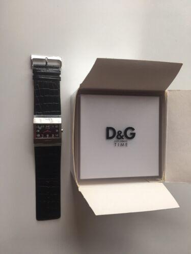 Damen Uhr D&G Silber groß 4,5x4 cm OVP
