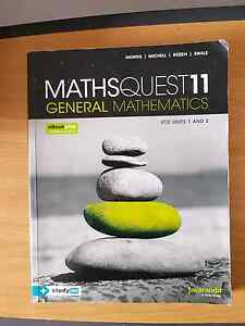 Maths Quest 11 general maths. VCE 1&2 plus ebook Brunswick Moreland Area Preview