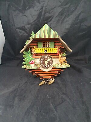 Vintage Chalet Small Cuckoo Clock For Restoration
