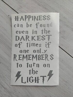 Harry potter happiness Vinyl Decal Wine Bottle Sticker BOTTLE NOT INCLUDED
