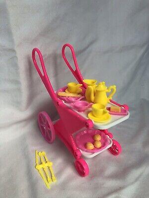 Vintage Barbie Hostess Set with Tea Cart 7348 With Accessories 1988 Arco Mattel