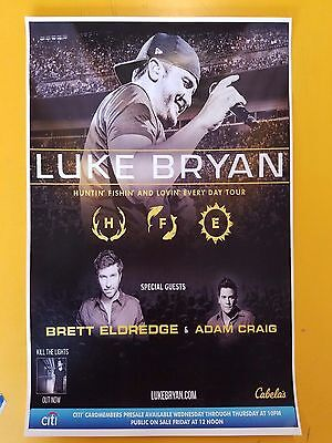 Luke Bryan 2017 11x17 promo concert poster tour tickets