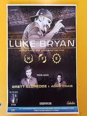 Luke Bryan 2017 11x17 promo concert poster tour tickets
