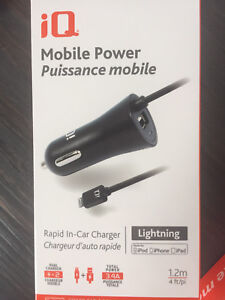 Mobile car charger for iPhone with extra USB port