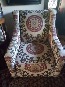 Very Large Pottery Barn Suzani Armchair, Excellent Condition