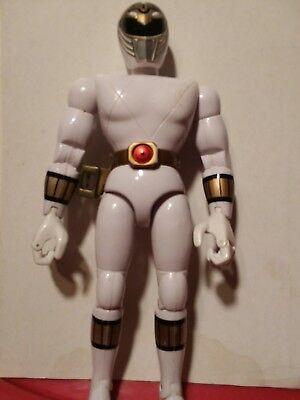 1993 Mighty Morphin Power Rangers Action Figure White Ranger 8