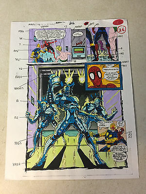 AMAZING SPIDER-MAN AN #26 original art color guide DREADNOUGHTS, NOVA, NAMORITA