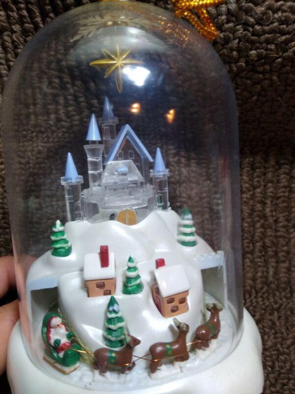 AVON Vintage 1997 Christmas village Ornament music and light up .