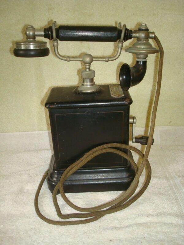 Vintage Danish Crank Telephone (Item #182)