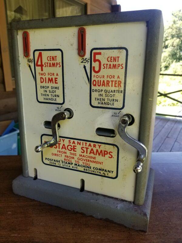 Vintage U.S. United States Postage Stamp Vending Machine Dispenser USPS w/ Key