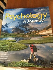 Psychology a journey 4th Canadian edition