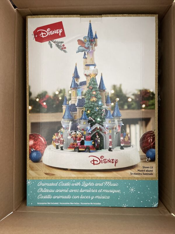 Disney Animated Castle with Lights and Music Christmas Holiday Seasons