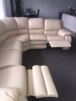 Rounded leather corner couch Kensington Eastern Suburbs Preview