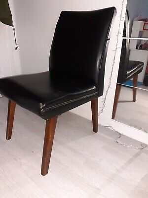 Small 1970s Faux Leather Chair