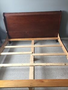 King size sleigh bed. Price dropped