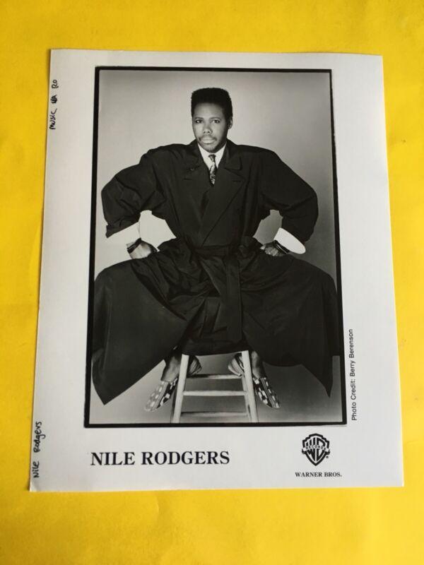 "Nile Rodgers Press Photo 8x10"", (Chic), WB Records."