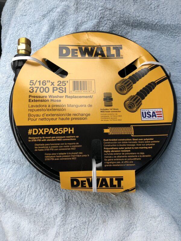 "Dewalt Pressure Washer Replacement Extension Hose DXPA25PH 5/16"" x 25ft 3700 psi"