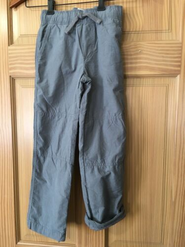 NWT Gymboree Boys Pull on Pants Gray Jersey Lined Gymster Outlet 6,7,8