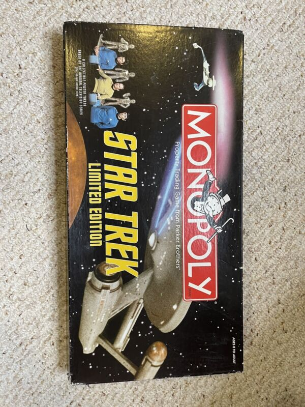 2000 Star Trek Limited Edition Monopoly Board Game Parker Hasbro (Missing Pieces
